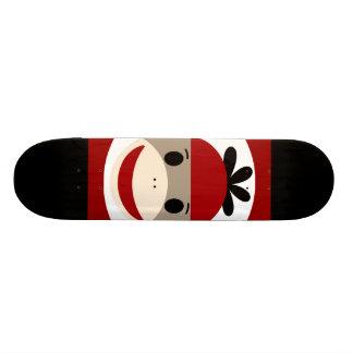 Cool Sock Monkey Beanie Hat Red Black Stripes Skateboard