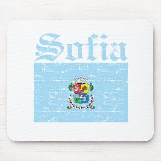 Cool sofia city flag designs mouse pad