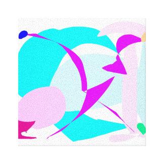 Cool Soft Water Nature Ice Bird Glacier Canvas Print