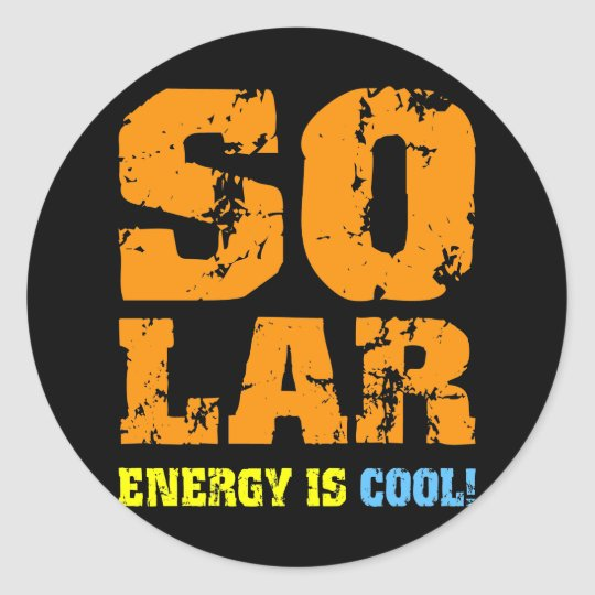 Cool solar energy classic round sticker