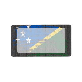 Cool Solomon Islander flag design Label