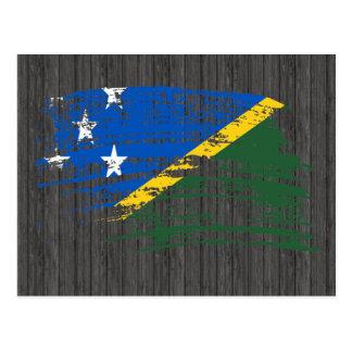 Cool Solomon Islander flag design Postcard