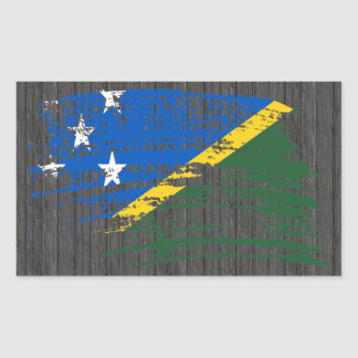 Cool Solomon Islander flag design Rectangular Sticker
