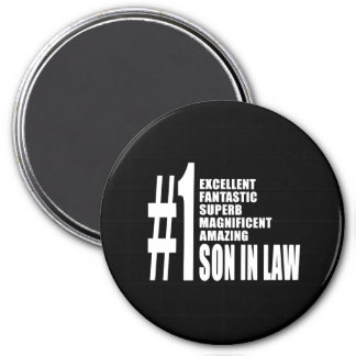 Cool Sons in Law : Number One Son in Law 3 Inch Round Magnet