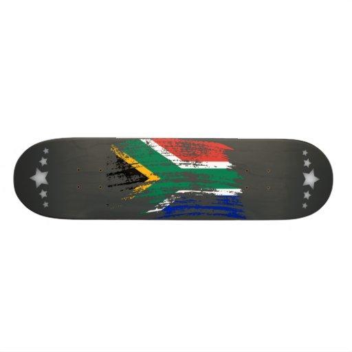 Cool South African flag design Custom Skate Board