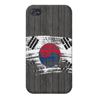 Cool South Korean flag design Cases For iPhone 4