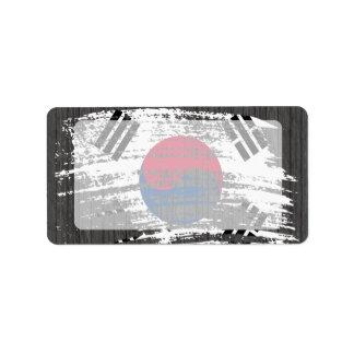 Cool South Korean flag design Label