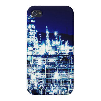 Cool Sparkling Light Oil Refinery Night Scene iPhone 4/4S Cases