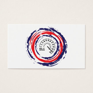 Cool Speed Emblem (Red Blue And White) 2 Business Card