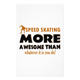 Cool Speed Skating designs Stationery