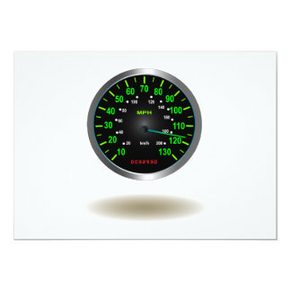 Cool Speedometer Emblem Card