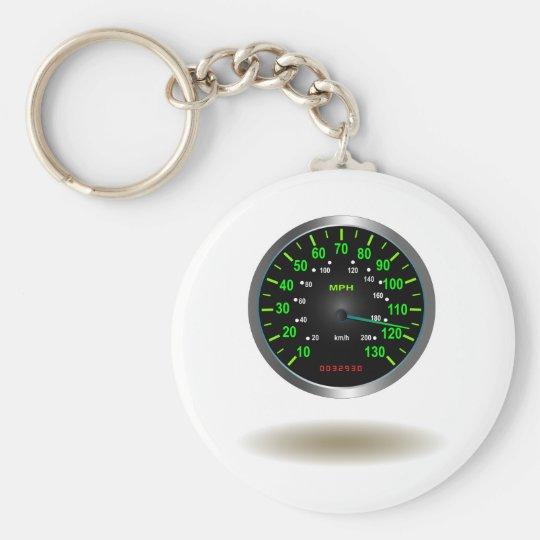 Cool Speedometer Emblem Keychain