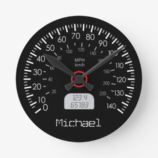 Cool Speedometer Personalized Wall Clock