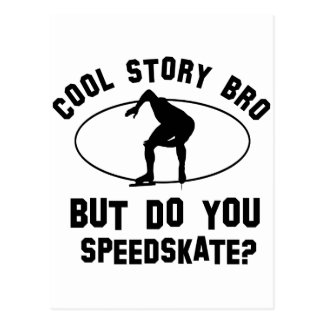 cool speedskate design postcard
