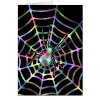Cool Spider And Web Card