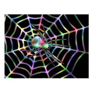 Cool Spider And Web Postcard