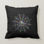Cool Spider And Web Throw Pillows