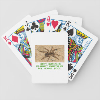 cool spider designs bicycle playing cards