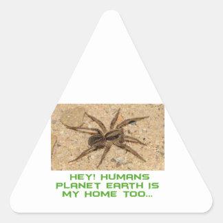 cool spider designs triangle sticker