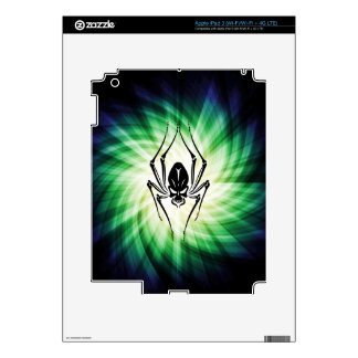 Cool Spider Skull Skin For iPad 3