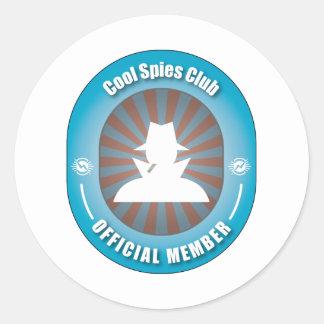 Cool Spies Club Classic Round Sticker