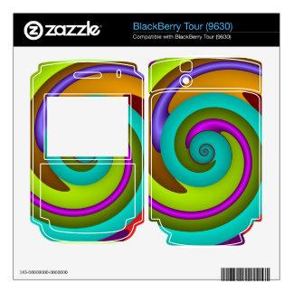 Cool spiral Blackberry skin