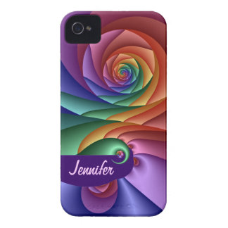 Cool spiral iPhone 4 case with Name