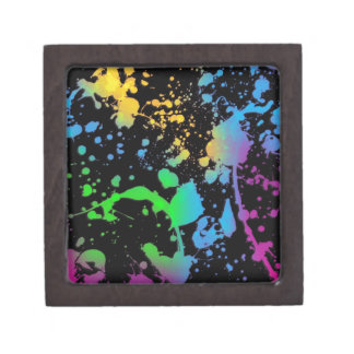 Cool Splatter Deisgn Keepsake Box