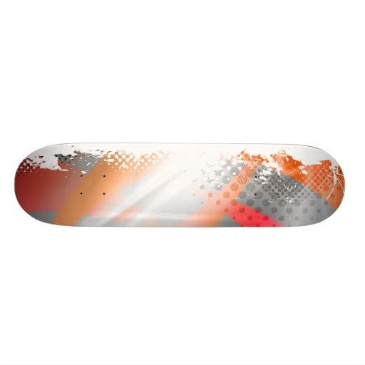 Cool Splatter Halftone Background Skateboards