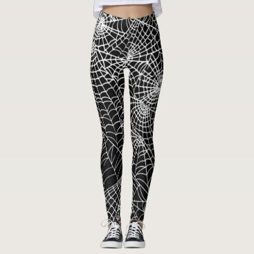 WraitheWear Cool Spooky Spider Webs Pattern Occult Style Leggings