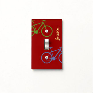 cool sport cycling decor idea light switch cover