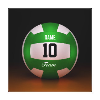 Cool Sport Forest Green Volleyball Team Canvas Print