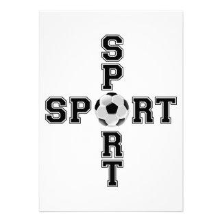 Cool Sport Soccer Cross Announcement