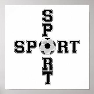 Cool Sport Soccer Cross Poster