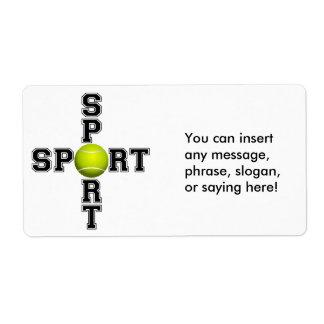 Cool Sport Tennis Cross Label
