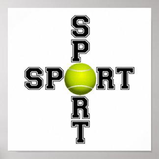 Cool Sport Tennis Cross Poster