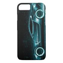 Cool Sports Car Blue Green Black iPhone 7 Case