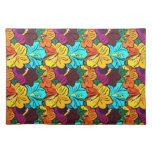Cool   spring colourful flowers placemat