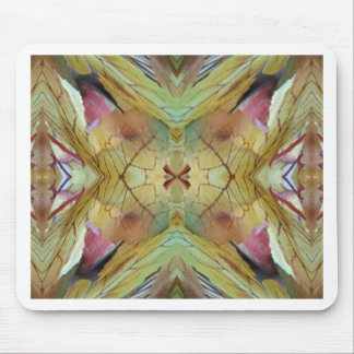 Cool Spring Fall Color Combo Pattern Mouse Pad