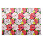 Cool   spring red pink white flowersplacemat placemats