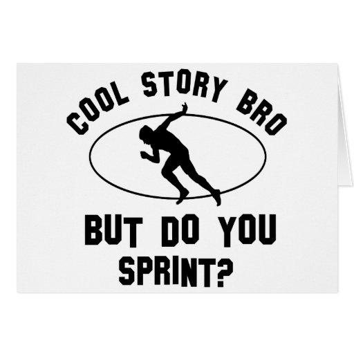 cool sprint designs greeting card
