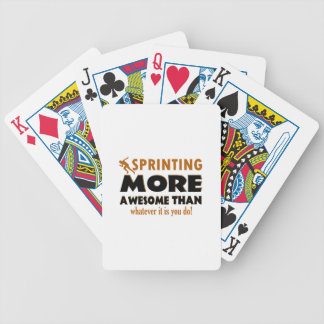 Cool Sprinting designs Bicycle Playing Cards