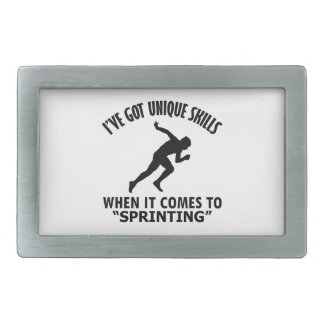 cool Sprinting DESIGNS Rectangular Belt Buckle