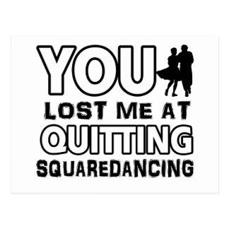 Cool Square Dancing dance designs Postcard