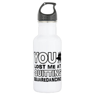Cool Square Dancing dance designs Stainless Steel Water Bottle