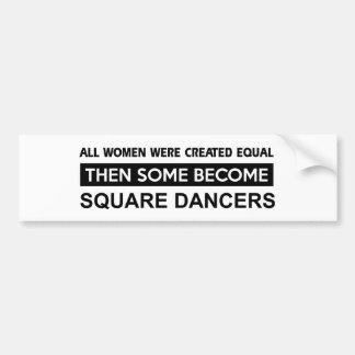 Cool Square designs Bumper Sticker
