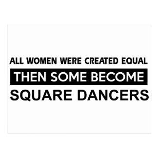 Cool Square designs Postcard