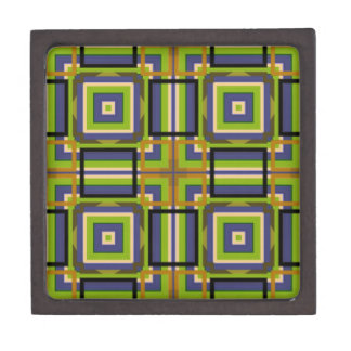 cool squares green gift box