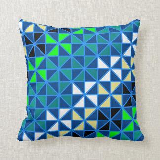 Cool Squares Modern Geometric Pattern Throw Pillow