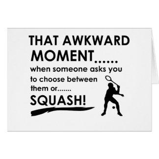 Cool Squash designs Card